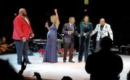 Ruben Studdard, left with Marilyn, Billy, Jody, Peabo
